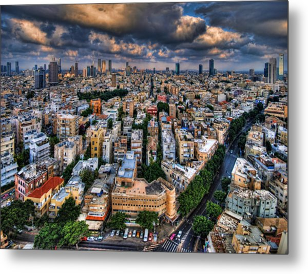 Metal Print featuring the photograph Tel Aviv Lookout by Ron Shoshani
