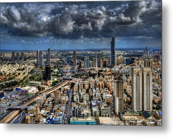 Metal Print featuring the photograph Tel Aviv Love by Ron Shoshani