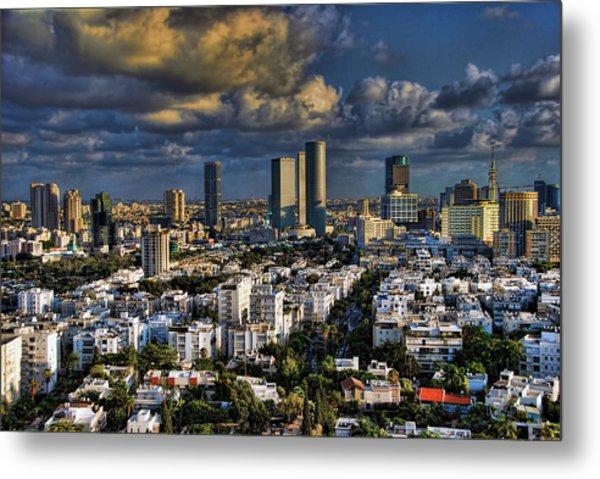 Tel Aviv Skyline Fascination Metal Print