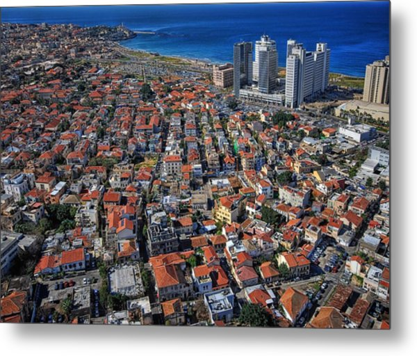 Metal Print featuring the photograph Tel Aviv - The First Neighboorhoods by Ron Shoshani