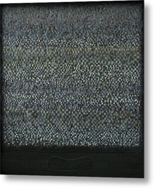 Television-pillow Metal Print by Oni Kerrtu