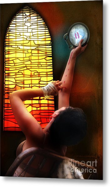 Tell Me Little Mirror Is That My Soul Metal Print by Rosa Cobos