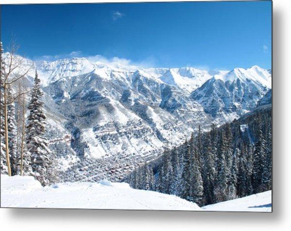 Telluride Snowscape Metal Print