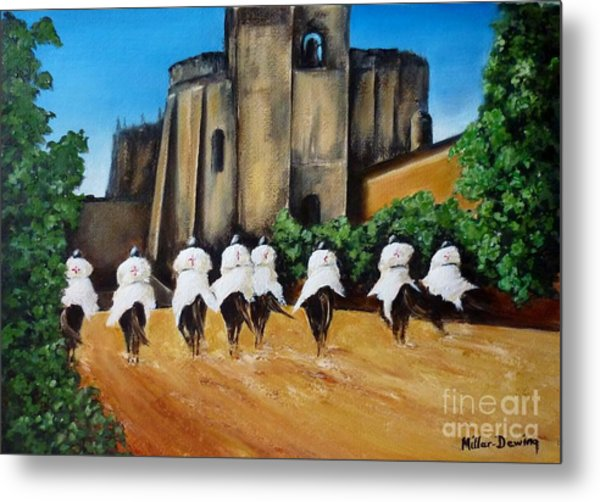 Templar Knights And The Convent Of Christ Metal Print