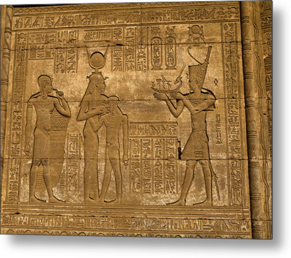 Temple At Denderah Egypt Metal Print
