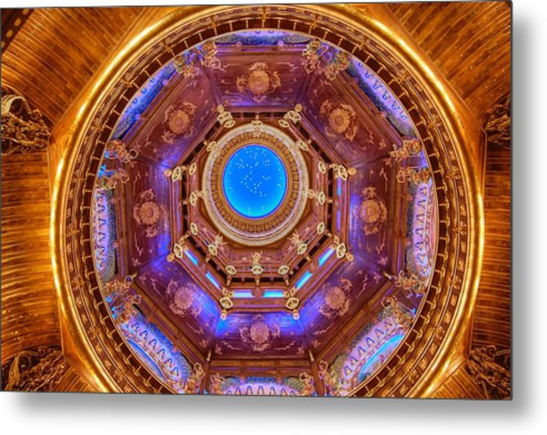 Temple Ceiling Metal Print