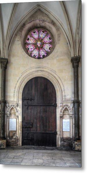 Temple Church Doorway Metal Print