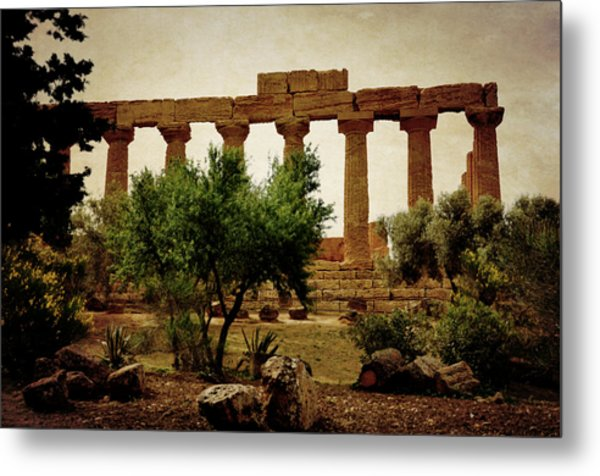 Temple Of Juno Lacinia In Agrigento Metal Print