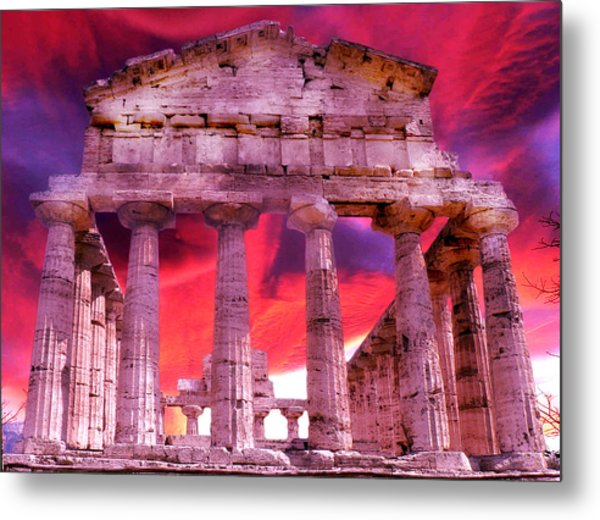 Temple Of The Gods Metal Print