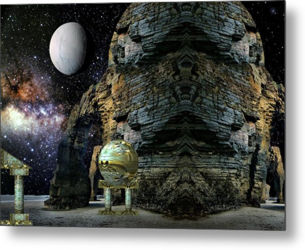 Temple Of The Mind Metal Print