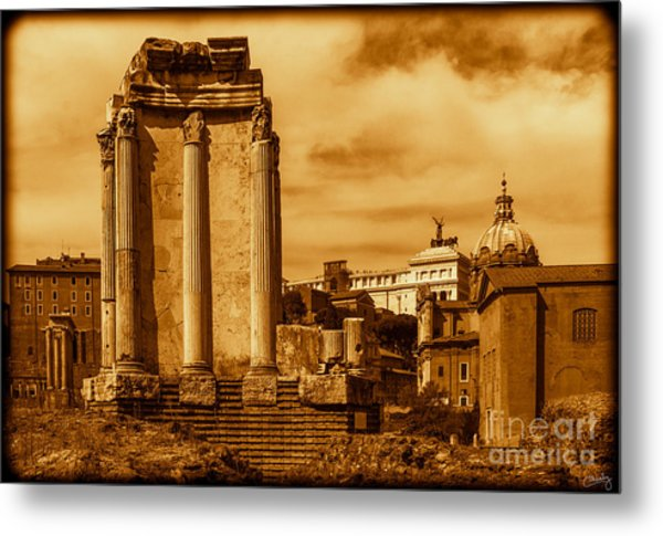 Temple Of Vesta Metal Print