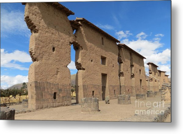 Temple Of Wiracocha Metal Print