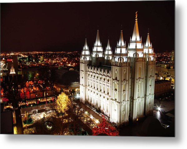Temple Square Metal Print
