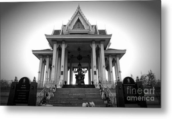 Temple Steps Metal Print by Thanh Tran