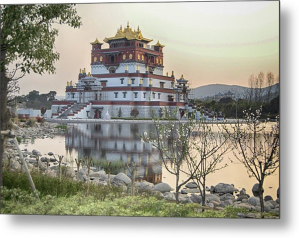 Temple Wuxi China Color Metal Print