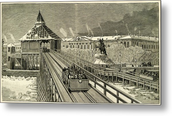 Temporary Railway Constructed Metal Print by Mary Evans Picture Library