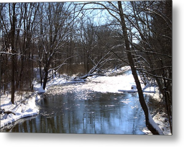 Ten Mile River Metal Print by Barbara Giordano
