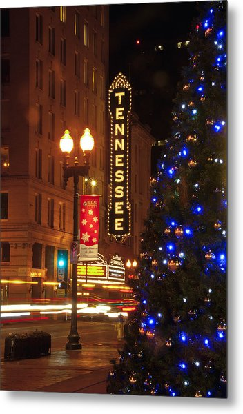 Tennessee Christmas Metal Print