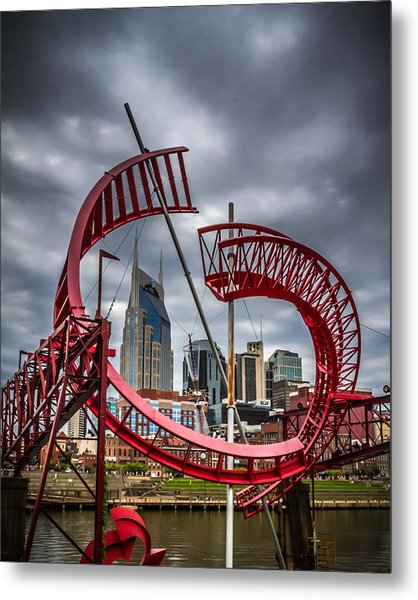 Tennessee - Nashville Through Sculpture Metal Print