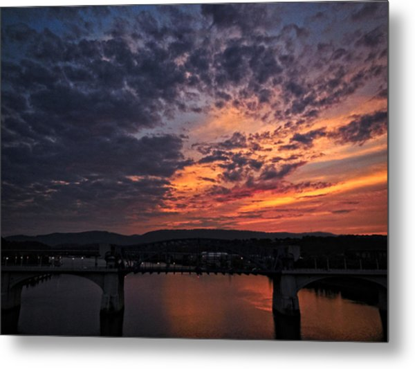 Tennessee River Sunset 2 Metal Print