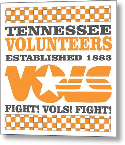 Tennessee Volunteers Fight Metal Print