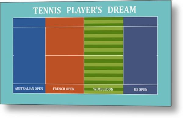 Tennis Player-s Dream Metal Print