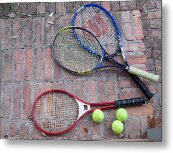 Tennis Time Metal Print by Annette Allman