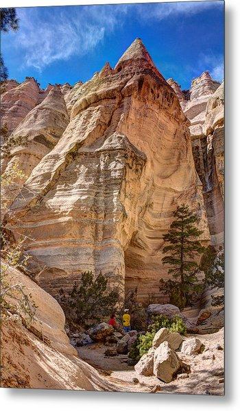 Tent Rocks No. 2 Metal Print