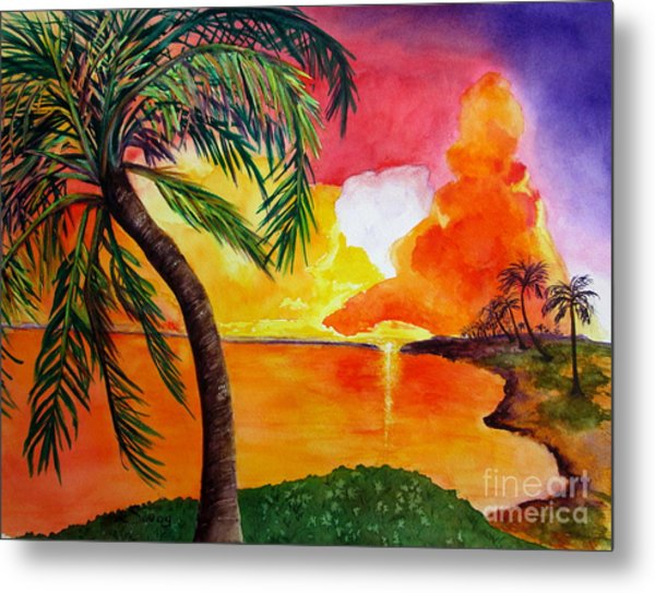 Tequila Sunset Metal Print