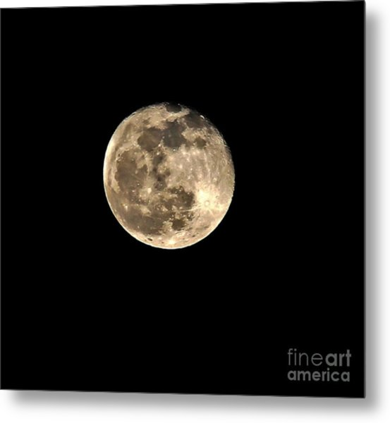 Teresa The Moon Metal Print by Kip Krause