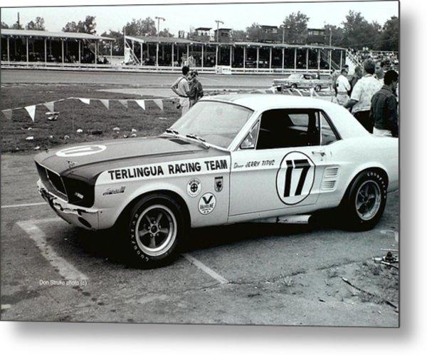 Terlingua Mustang At Marlboro Trans Am Race 1967 Metal Print