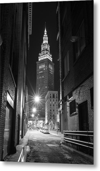 Terminal Tower From A Cleveland Alley Metal Print