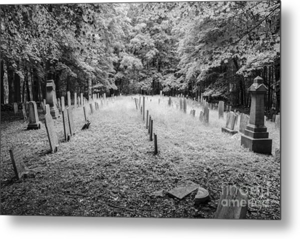 Terpenning Cemetery B And W Metal Print
