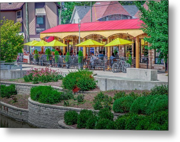 Terrace Dining On The Monon Trail Metal Print