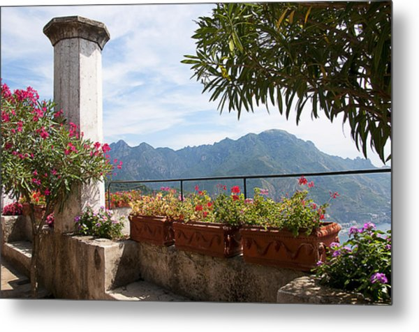 Terrace In The Clouds Metal Print