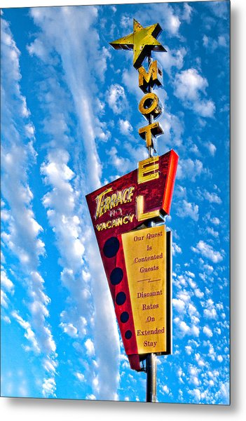Terrace Motel Metal Print
