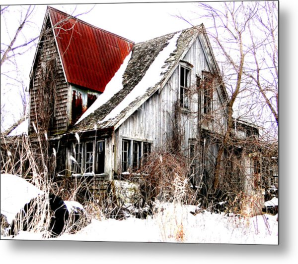 Terrance Laird Farm House Thedford Metal Print