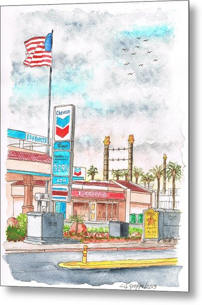 Terribles Chevron Gas Station, Laughlin, Nevada Metal Print