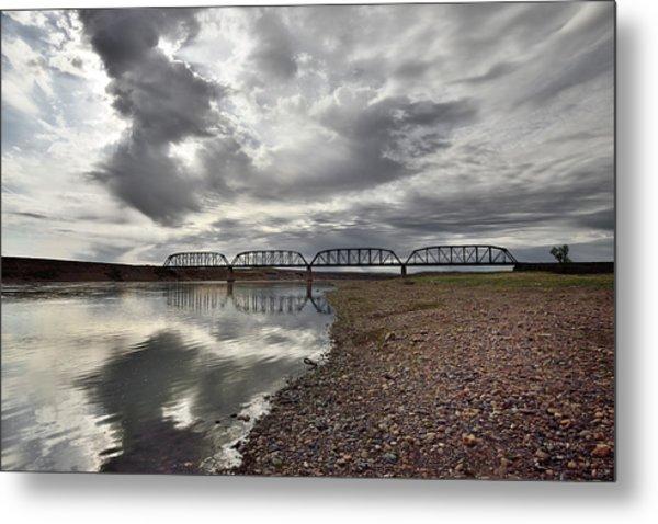 Terry Bridge Metal Print by Leland D Howard