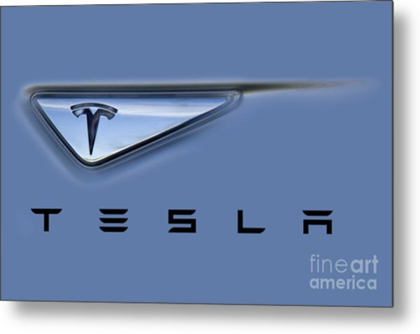 Tesla Artwork Metal Print