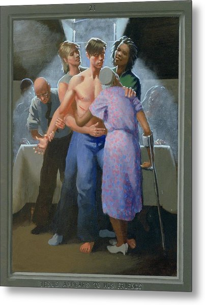 21. Jesus Appears To His Friends / From The Passion Of Christ - A Gay Vision Metal Print by Douglas Blanchard