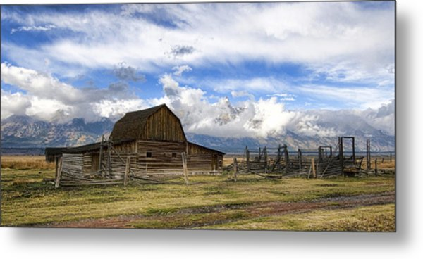 Metal Print featuring the photograph Teton Barn 2 by David Armstrong