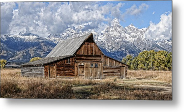 Metal Print featuring the photograph Teton Barn 3 by David Armstrong