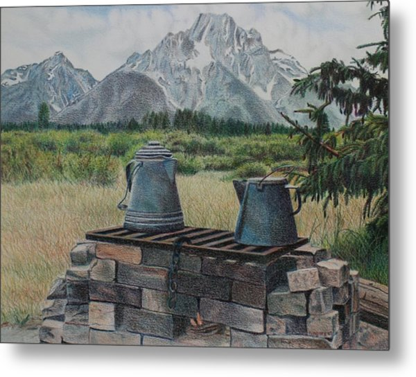 Teton Cook Site Metal Print