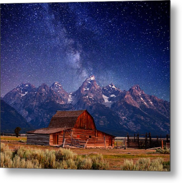 Teton Nights Metal Print