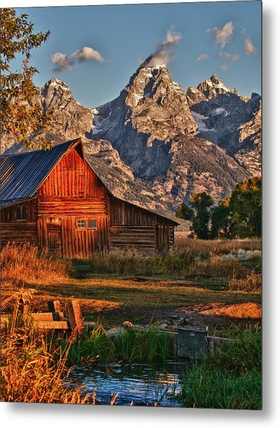 Teton Sunrise Metal Print