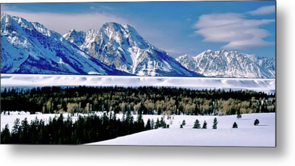 Teton Valley Winter Grand Teton National Park Metal Print