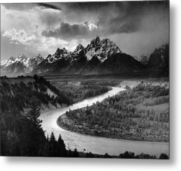 Tetons And The Snake River Metal Print