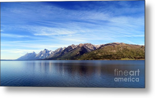 Tetons By The Lake Metal Print