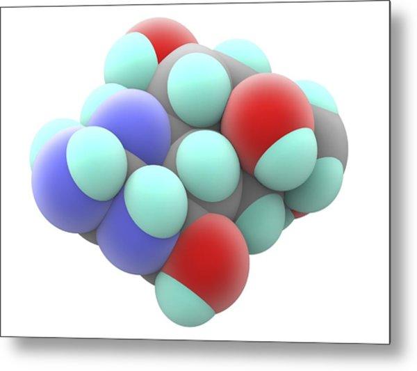 Tetrodotoxin Ttx Neurotoxin Molecule Metal Print